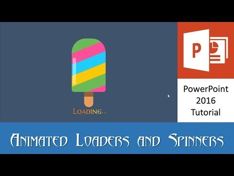 The Ice Cream | Animated Loader and Spinner in PowerPoint 2016 Tutorial