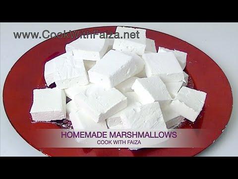 MARSHMALLOWS (homemade) *COOK WITH FAIZA*