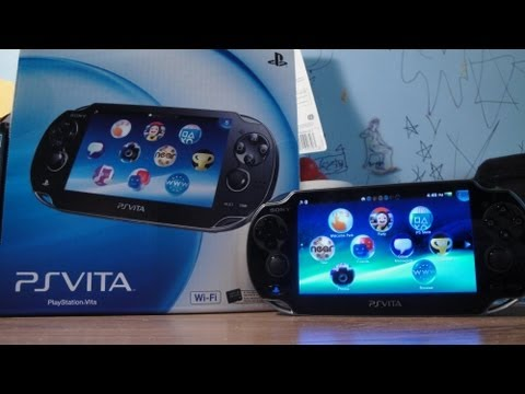 PlayStation Vita (Wifi) Unboxing, Overview, & Boot Up (US)