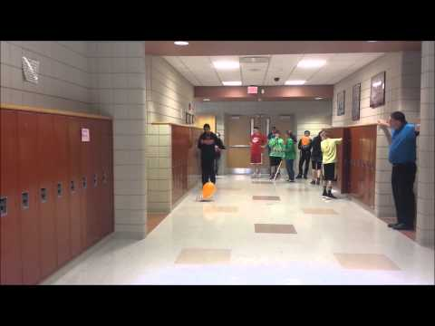 LaBrae Middle School Balloon Powered Race Car Championship Run - 29.21 meters