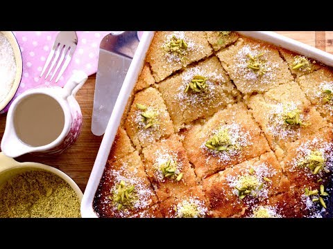 Basbousa Recipe | How to Make Revani | Ramadan Iftar Special | Suji Cake Recipe