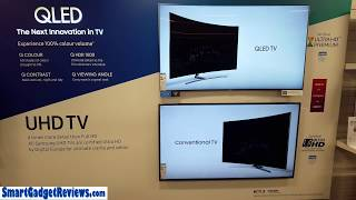 Samsung 4K QLED vs SUHD  2017 Picture Comparison Video