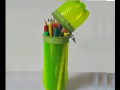 How To Make a Pencil Box With Old Plastic Bottle