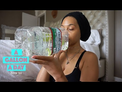 WHAT A GALLON OF WATER A DAY DID TO ME (HOW TO) drink it with me VLOG