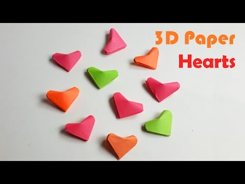 How to Make an Origami 3D Heart -  3D Paper Heart - DIY paper Crafts