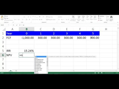 IRR Calculation using Excel