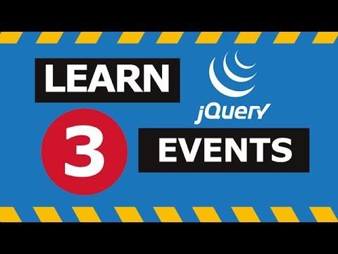 Jquery Events Tutorials in Hindi - Part 3