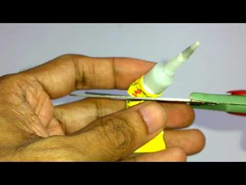 Hardened superglue experiment