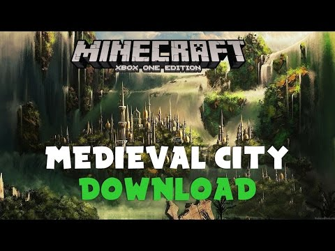 Minecraft Xbox One/360 PS4/3 Medieval City Map W/Download
