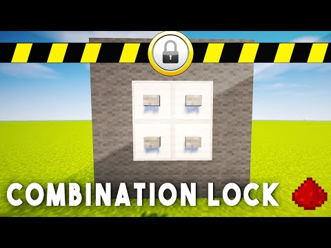 REDSTONE COMBINATION LOCK - Minecraft Redstone Tutorial (Xbox One, 360, Wii U, PS3, PS4)