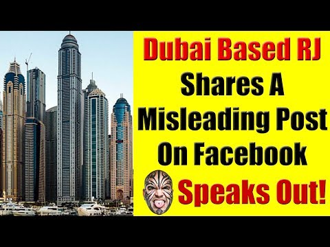 Dubai Based RJ Shares A Misleading Post On Facebook - Loy Machedo Speaks Out
