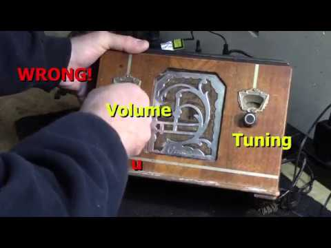 1934 Grunow 501 Antique Tube Radio Part 1 of 10 Getting Started