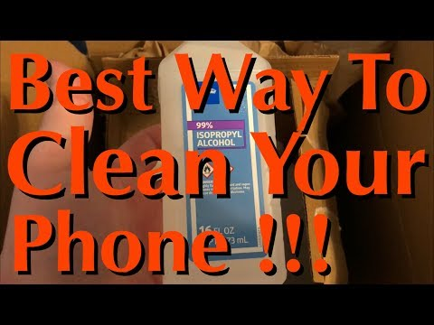 Best Way To Clean Phone & Electronics - 99% Rubbing Alcohol