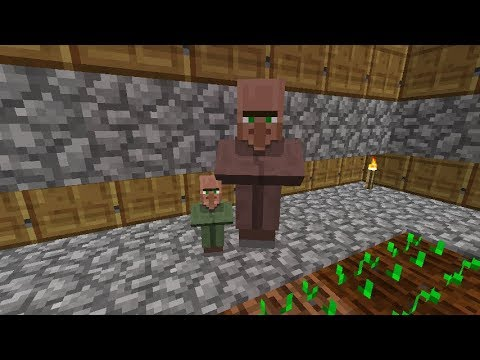 Minecraft 1.12.1:How to breed villagers