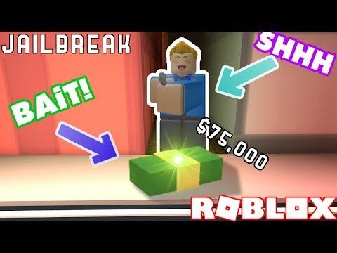 BAITING CRIMINALS WITH MONEY IN JAILBREAK!! Roblox Jailbreak Nub the Bounty Hunter #12