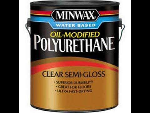 How to apply polyurethane to a desk.
