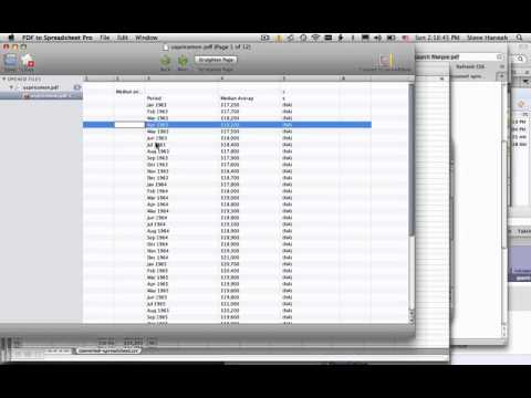 PDF to Spreadsheet Pro for Mac OS X Demo