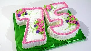 3 д Кремовый торт цифра Как украсить торт кремом Cream cake figure How to decorate cake with cream
