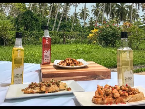 CGA Constance Estate Infused Coconut Oils - Garlic, Lemon, Chilli