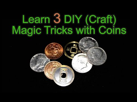 Learn Three Easy Magic Tricks with Coins - DIY Craft Projects