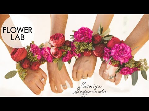 How to Make PINK Wrist Corsage for Wedding! Easy Wedding Diy Ideas   How to Make a Wedding Bracelet