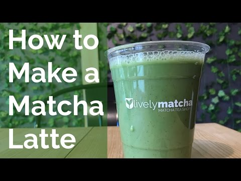 Matcha Latte - How to make a Matcha Latte with less than 40 calories