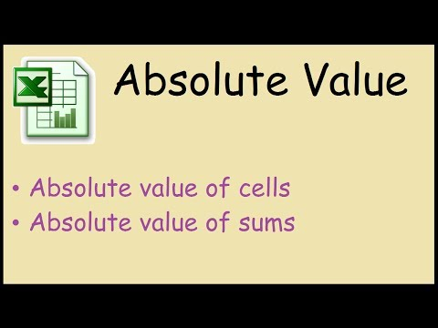 How to find the absolute value of a number Excel