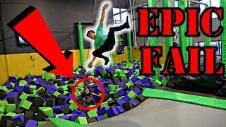 LEARNING HOW TO BACKFLIP WITH ROCCO PIAZZA**EPIC FAIL**