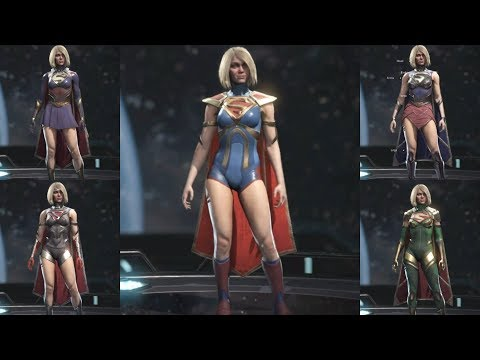 Injustice 2 100 Gear Options for Supergirl Showcase
