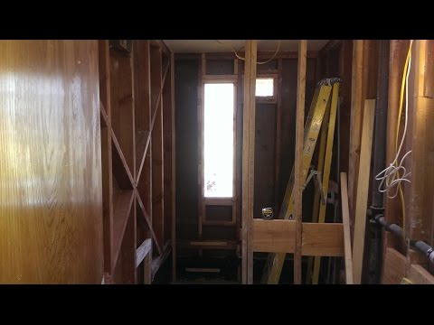 Bathroom Renovation & Tub to Barrier Free Shower Conversion (Part 29)...Glass Block Window Install