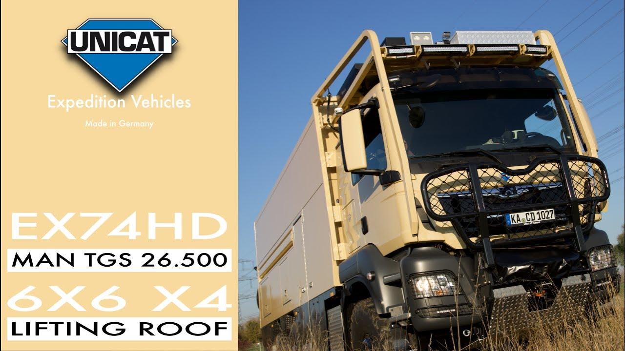 UNICAT Expedition Vehicle EX74HD MAN TGS 26.500 6X6 X4