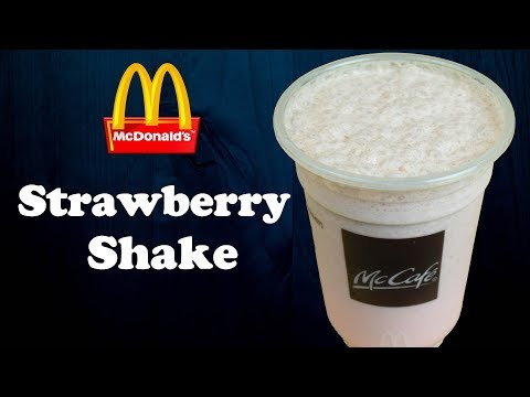 Make Strawberry shake like McDonald's at home | Easy strawberry syrup from scratch| Yummylicious