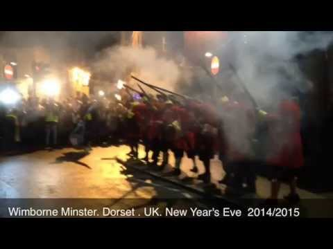Firing Muskets at Midnight! The Wimborne Militia volley fire. New Year's Eve 2015 . Nye.