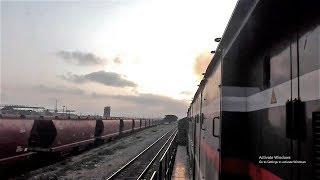 Pakistani Train Departing Karachi | Inside Engine View