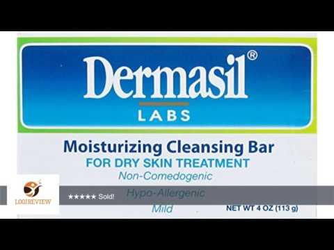 Dermasil Moisturizing Cleansing Bar Soap for Dry Skin Treatment, Non-Comedogenic, Hypoallergenic &