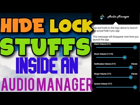 How to Hide & Lock Pictures, Videos, Apps & Messages on Android | Hide in Audio volume controller