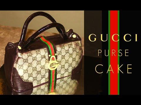 How To Make a Gucci Purse Cake