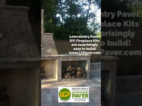 DIY Outdoor Fireplace Kits by Lowcountry Paver!