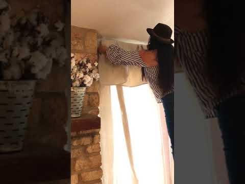 DIY SUPER CHEAP: Canvas Drop Cloth Curtains