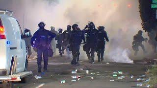 Police declare protest in north Portland a riot, use tear gas to disperse crowd