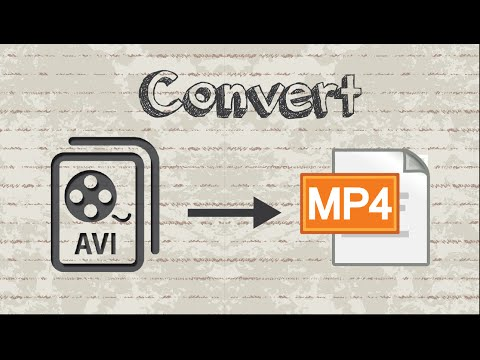 How to convert AVI video to MP4 format