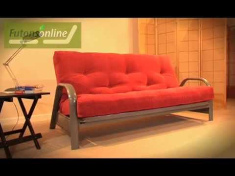 futons online show a 3 seater metal futon sofabed