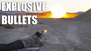 Shooting Propane Tanks With Explosive Bullets!
