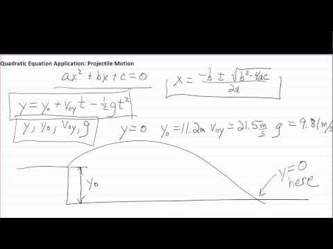 Quadratic Formula for Physics