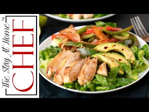 Skinny Chicken Fajita Salad