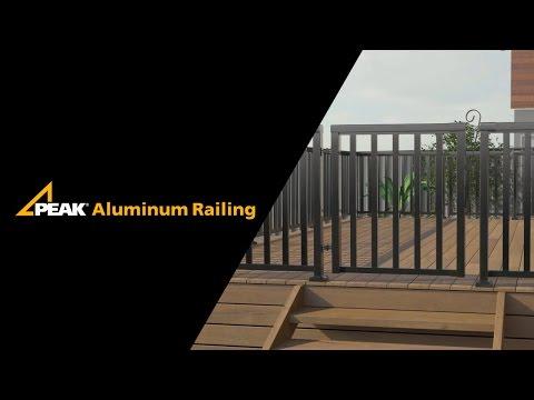 Peak Aluminum Railing - Gate Installation
