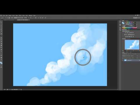 How to paint basic clouds in Photoshop