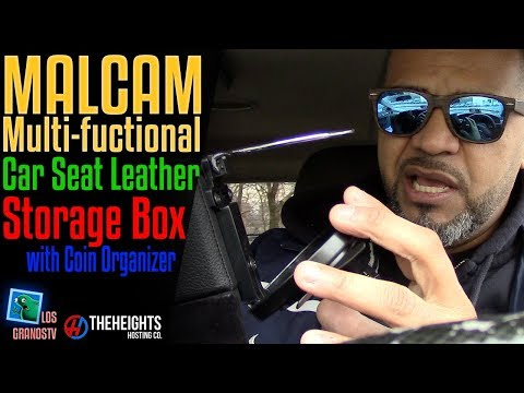 Malcam Multi-functional Car Seat Leather Storage Box : LGTV Review