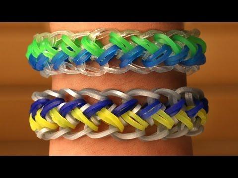Rainbow Loom English - MERMAID - Loom Bands, easy, how to, DIY
