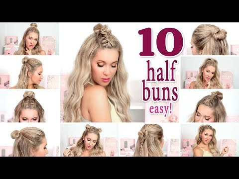10 MESSY HALF BUNS for everyday, party, school ❤ Quick and easy hair tutorial